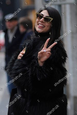 Editorial picture of Giulia Salemi out and about, Milan, Italy - 24 Jan 2020