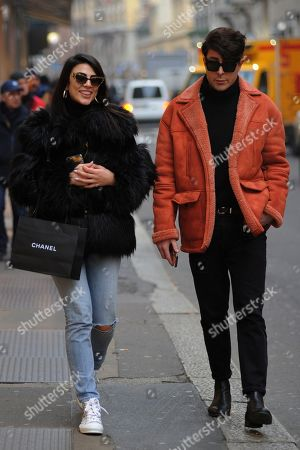 Editorial photo of Giulia Salemi out and about, Milan, Italy - 24 Jan 2020