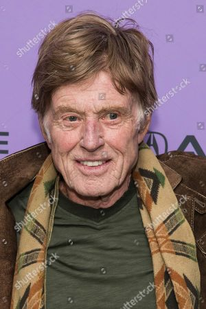 """Stock Picture of Robert Redford attends the premiere of """"Omniboat: A Fast Boat Fantasia"""" during the 2020 Sundance Film Festival, in Park City, Utah"""
