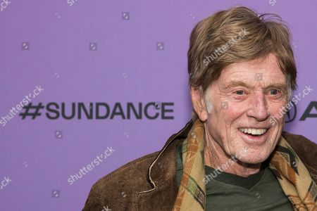 """Stock Image of Robert Redford attends the premiere of """"Omniboat: A Fast Boat Fantasia"""" during the 2020 Sundance Film Festival, in Park City, Utah"""