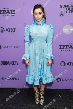 """Cristin Milioti attends the premiere of """"Palm Springs"""" at the Library Center Theatre during the 2020 Sundance Film Festival, in Park City, Utah"""