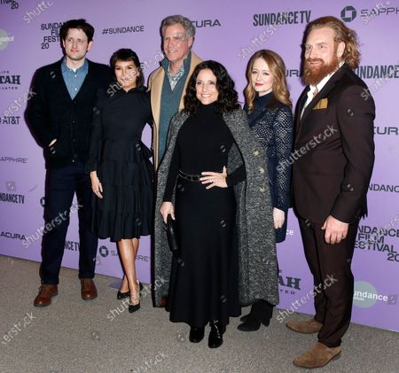 Zach Woods, Zoe Chao, Will Ferrell, Julia Louis-Dreyfus, Miranda Otto and Kristofer Hivju arrive for the premiere of 'Downhill' at the 2020 Sundance Film Festival in Park City, Utah, USA, 26 January 2020. The festival runs from 22 January to 02 February 2020.