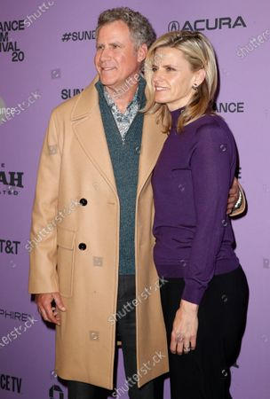 Will Ferrell (L) and his wife Swedish actress Viveca Paulin (R) arrive for the premiere of 'Downhill' at the 2020 Sundance Film Festival in Park City, Utah, USA, 26 January 2020. The festival runs from 22 January to 02 February 2020.