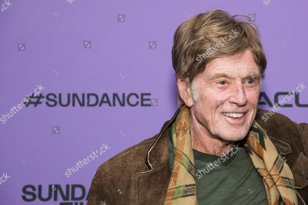 """Robert Redford attends the premiere of """"Omniboat: A Fast Boat Fantasia"""" during the 2020 Sundance Film Festival, in Park City, Utah"""