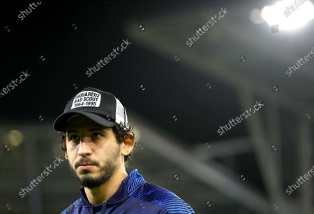 Ahmed Hegazi of West Bromwich Albion on the pitch before kick off