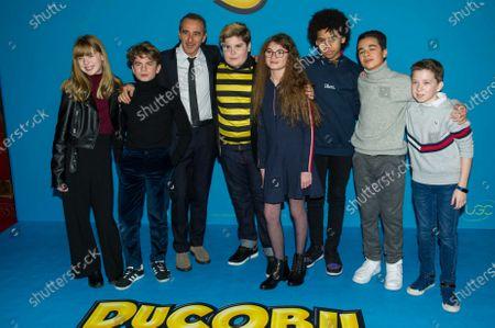 Stock Image of Singer Band Kids United, Elie Semoun and Mathys Gros