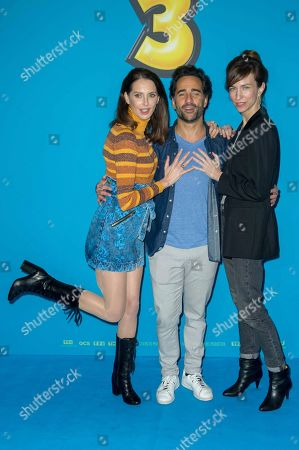 Frederique Bel, Florent Peyre and Emilie Caen