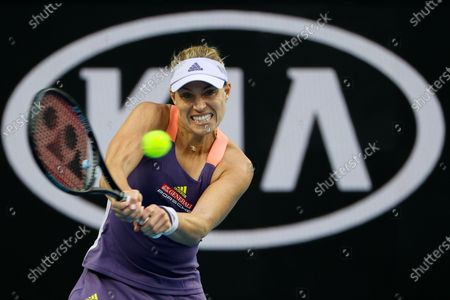 Angelique Kerber of Germany competes during her women's singles fourth round match