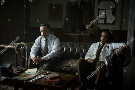 Stock Photo of Reece Ritchie as Dr Jeremy Kreitsek and Oliver Boot as Tony.