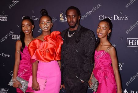 D'Lila Star Combs, Chance Combs, Honoree Sean Combs, and Jessie James Decker Combs