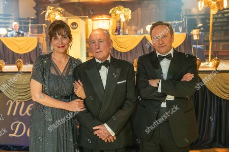 Stock Photo of Fiona Dolman as Sarah Barnaby, Christopher Timothy as Ted Barnaby, and Neil Dudgeon as DCI John Barnaby