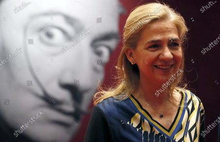 Spain's Princess Cristina attends the opening of the exhibition 'Salvador Dali. Magic Art' at the Manege Central Exhibition Hall in Moscow, Russia, 27 January 2020. The exhibition, which was organized by the Link of Times Foundation and the Faberge Museum along with the Gala-Salvador Dali Foundation (Figueres) and the Museo Nacional Centro de Arte Reina Sofia (Madrid), runs from 28 January to 25 March 2020 and features more than 180 works by Spanish artist Salvador Dali (1904-1989).