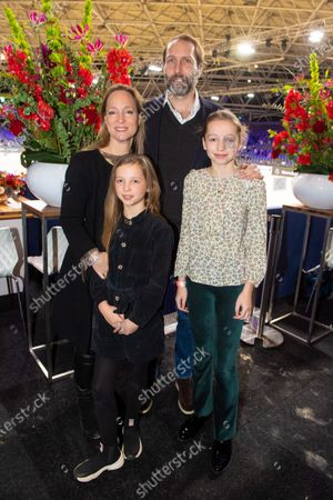 Stock Image of Princess Margarita Maria Beatriz of Bourbon-Parma and her partner Tjalling ten Cate and their children Julia and Paola