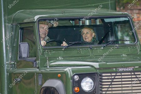 Dame Kiri Te Kanawa and Tim Laurence driving to a shoot on the Sandringham Estate