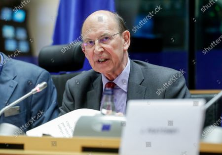 Lord Lord Jay of Ewelme, representative of the EU committee of the British upper house attends a hearing on Brexit related matters during a Committee on Civil Liberties, Justice and Home Affairs at the European Parliament in Brussels, Belgium, 27 January 2020.
