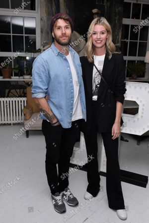 Joel Dommett and Hannah Cooper at the launch of Frankie Bridge's book 'OPEN: Why asking for help can save your life'.
