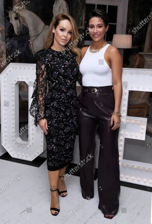 Katie Piper and Frankie Bridge at the launch of Frankie Bridge's book 'OPEN: Why asking for help can save your life'.