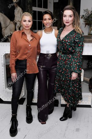 Olivia Buckland, Frankie Bridge and Candice Brown at the launch of Frankie Bridge's book 'OPEN: Why asking for help can save your life'.