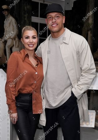 Olivia Buckland and Alex Bowen at the launch of Frankie Bridge's book 'OPEN: Why asking for help can save your life'.