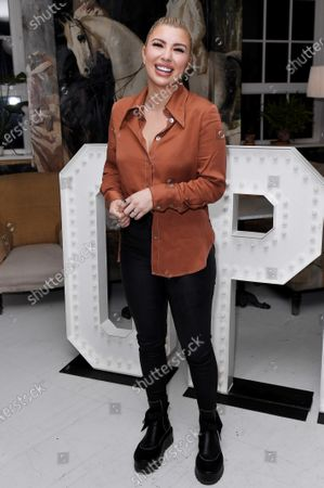 Olivia Buckland at the launch of Frankie Bridge's book 'OPEN: Why asking for help can save your life'.