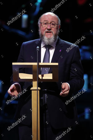 Stock Image of Chief Rabbi Ephraim Mirvis speaks at the Holocaust Memorial Day Commemorative Ceremony in Westminster.
