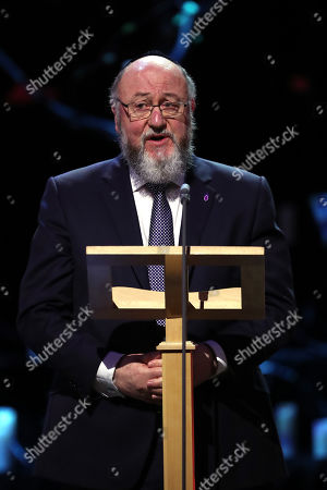 Chief Rabbi Ephraim Mirvis speaks at the Holocaust Memorial Day Commemorative Ceremony in Westminster.