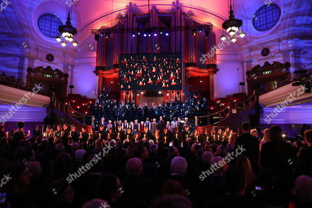 Stock Photo of Sleep by Eric Whitacre, performed by the Fourth Choir and the Wallace Ensemble during Holocaust Memorial Day Commemorative Ceremony in Westminster.