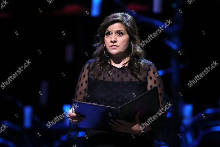 Nina Wadia reading during the UK Holocaust Memorial Day Commemorative Ceremony in Westminster on January 27, 2020 in London, England. 2020 marks the 75th anniversary of the liberation of Auschwitz-Birkenau. Holocaust memorial day takes place annually on the 27th of January, remembering the liberation of Auschwitz-Birkenau, and honoring survivors of the Holocaust, Nazi Persecution, and subsequent genocides in Bosnia, Cambodia, Rwanda, Darfur.