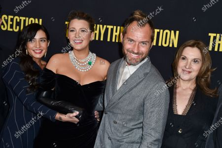 Stock Picture of Reed Morano, Blake Lively, Jude Law and Barbara Broccoli