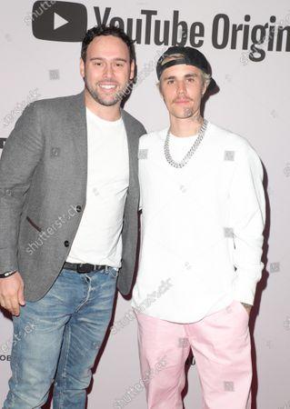 Scooter Braun and Justin Bieber