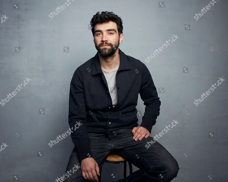 """Alec Secareanu poses for a portrait to promote the film """"Amulet"""" at the Music Lodge during the Sundance Film Festival, in Park City, Utah"""