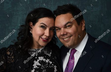 Kristen Anderson-Lopez, Robert Lopez. Kristen Anderson-Lopez, left, and Robert Lopez pose for a portrait at the 92nd Academy Awards Nominees Luncheon at the Loews Hotel, in Los Angeles