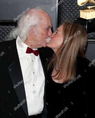 Stock Image of David Crosby and Jan Dance