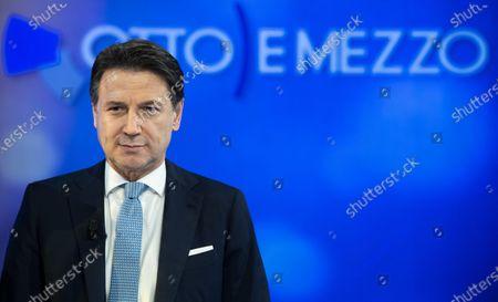 Editorial image of Conte attends Italian program 'Otto e Mezzo', Rome, Italy - 27 Jan 2020