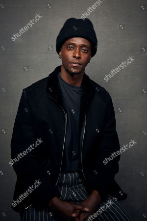"""Edi Gathegi poses for a portrait to promote the film """"The Last Thing He Wanted"""" at the Music Lodge during the Sundance Film Festival, in Park City, Utah"""