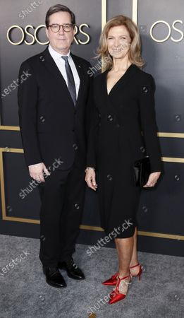 Academy of Motion Picture Arts and Sciences President David Rubin (L) and CEO Dawn Hudson (R) arrive for the 92nd Oscars Nominees Luncheon at The Loews Hotel Ray Dolby Ballroom in Hollywood, California, USA, 27 January 2020. The 92nd Academy Awards ceremony will be held on 09 February 2020.