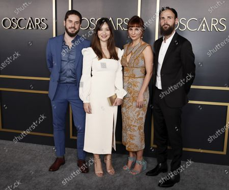 Producer Tiago Pavan, British filmmaker Joanna Natasegara, Brazilian filmmaker Petra Costa and producer Shane Boris arrive for the 92nd Oscars Nominees Luncheon at The Loews Hotel Ray Dolby Ballroom in Hollywood, California, USA, 27 January 2020. The 92nd Academy Awards ceremony will be held on 09 February 2020.