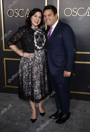Robert Lopez (R) and wife Kristen Anderson-Lopez (L) arrive for the 92nd Oscars Nominees Luncheon at The Loews Hotel Ray Dolby Ballroom in Hollywood, California, USA, 27 January 2020. The 92nd Academy Awards ceremony will be held on 09 February 2020.
