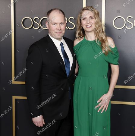 Oliver Tarney (L) and sound editor Rachael Tate (R) arrive for the 92nd Oscars Nominees Luncheon at The Loews Hotel Ray Dolby Ballroom in Hollywood, California, USA, 27 January 2020. The 92nd Academy Awards ceremony will be held on 09 February 2020.