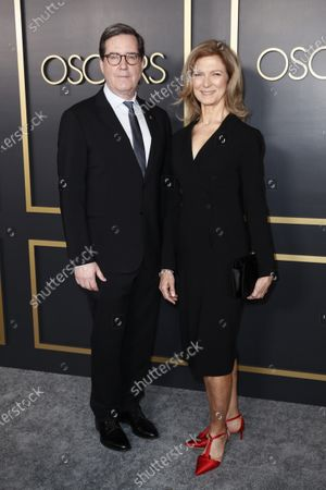Academy President David Rubin (L) and CEO Dawn Hudson arrive for the 92nd Oscars Nominees Luncheon at The Loews Hotel Ray Dolby Ballroom in Hollywood, California, USA, 27 January 2020. The 92nd Academy Awards ceremony will be held on 09 February 2020.