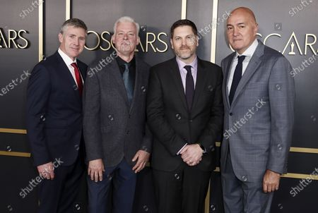 Stock Photo of Visual effects artists Dominic Tuohy (L), Neal Scanlan of Britain (2L), US Patrick Tubach (2R), and British Roger Guyett (R) arrive for the 92nd Oscars Nominees Luncheon at The Loews Hotel Ray Dolby Ballroom in Hollywood, California, USA, 27 January 2020. The 92nd Academy Awards ceremony will be held on 09 February 2020.