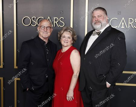 US film producers Bradford Lewis (L), Bonnie Arnold (C), and Canadian film director Dean DeBlois (R) arrive for the 92nd Oscars Nominees Luncheon at The Loews Hotel Ray Dolby Ballroom in Hollywood, California, USA, 27 January 2020. The 92nd Academy Awards ceremony will be held on 09 February 2020.