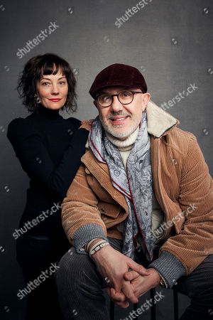 """Natasha Gregson Wagner, Laurent Bouzereau. Natasha Gregson Wagner, left, and director Laurent Bouzereau pose for a portrait to promote the film """"Natalie Wood: What Remains Behind"""" at the Music Lodge during the Sundance Film Festival, in Park City, Utah"""
