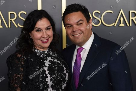 Kristen Anderson-Lopez, Robert Lopez. Kristen Anderson-Lopez, left, and Robert Lopez arrive at the 92nd Academy Awards Nominees Luncheon at the Loews Hotel, in Los Angeles