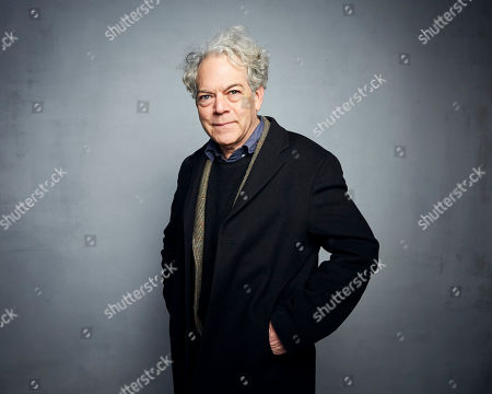 """Michael Almereyda poses for a portrait to promote the film """"Tesla"""" at the Music Lodge during the Sundance Film Festival, in Park City, Utah"""
