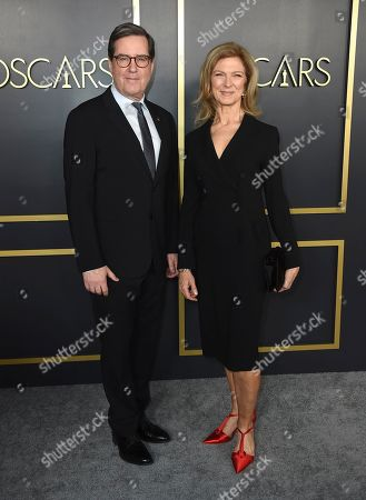 Dawn Hudson, David Rubin. Academy of Motion Picture Arts and Sciences President David Rubin and CEO Dawn Hudson arrive at the 92nd Academy Awards Nominees Luncheon at the Loews Hotel, in Los Angeles