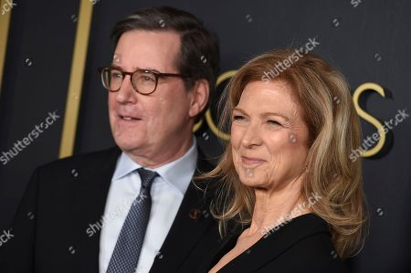 Dawn Hudson, David Rubin. Academy of Motion Picture Arts and Sciences President David Rubin, left, and CEO Dawn Hudson arrive at the 92nd Academy Awards Nominees Luncheon at the Loews Hotel, in Los Angeles
