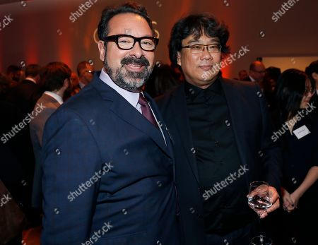 James Mangold, Bong Joon-ho. James Mangold, left, and Bong Joon-ho attend the 92nd Academy Awards Nominees Luncheon at the Loews Hotel, in Los Angeles
