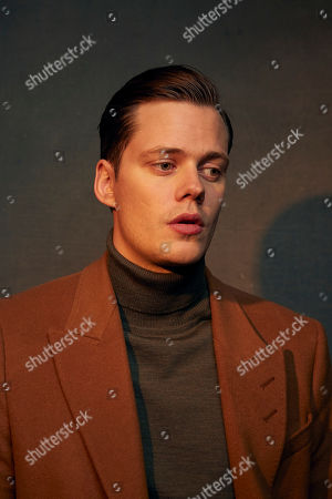 """Bill Skarsgard poses for a portrait to promote the film """"Nine Days"""" at the Music Lodge during the Sundance Film Festival, in Park City, Utah"""