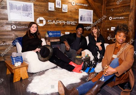 Anne Hathaway, Edi Gathegi, Rosie Perez, Dee Rees. Anne Hathaway, Edi Gathegi, Rosie Perez and Dee Rees pose for a photo at the Los Angeles Times Studio at Sundance Film Festival presented by Chase Sapphire, in Park City, Utah